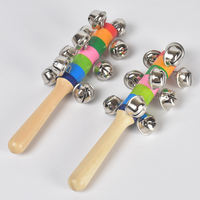 Orff early education percussion instrument 0-6 months baby toy baby rattle 0-1 year old string bell ring rattle