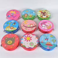Children's small tambourine wooden kindergarten teacher performance show Ling drum Orff instrument baby hand drum