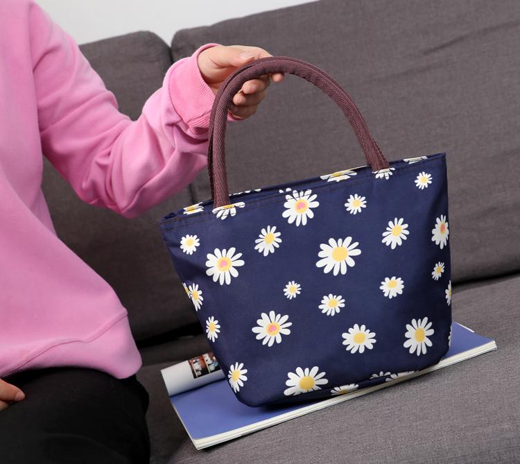 手提包底加厚定型便当包饭盒包手拎包牛津帆布小包女包包