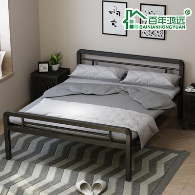 精品加密款单层铁床钢架床单人床双人床学生床员工宿舍床铁艺床领取优惠券