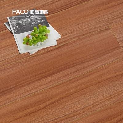 柏高厂家直销强化复合地板耐磨防水12mm柚木印象地热地板