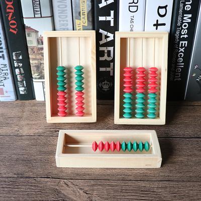 幼儿园计算架计数器1档五珠2-3行10珠小算盘数学学习启蒙早教教具