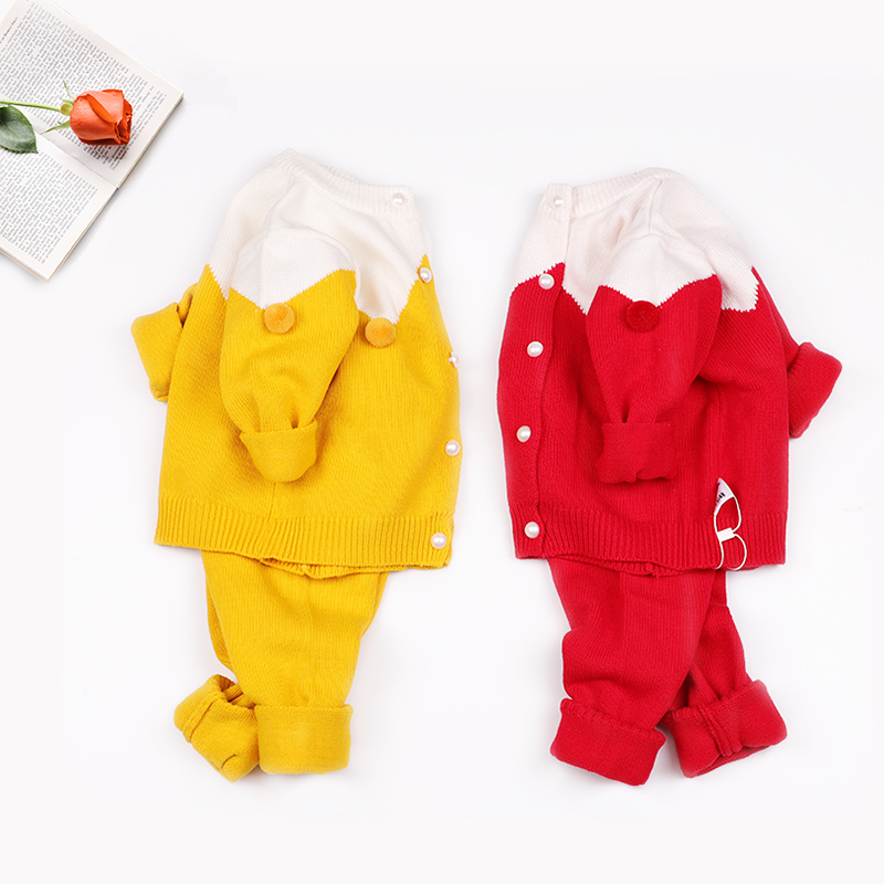 婴儿毛衣套装棉线衣厚款开衫宝宝针织衫秋装秋冬装外出衣服外套装