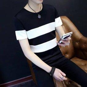 九块九男装上衣衣服学生韩版T恤短袖9块特价便宜的货10-20元条纹