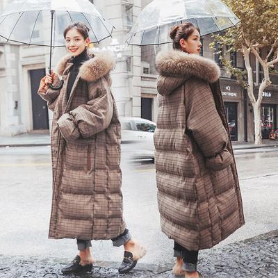 孕妇羽绒棉服女中长款怀孕期韩版宽松棉衣外套秋冬装加厚棉袄大衣