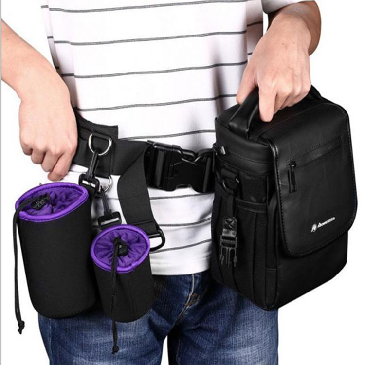 單反腰帶減壓多功能攝影腰帶相機快掛腰包鏡頭腰掛 鏡頭筒袋腰帶