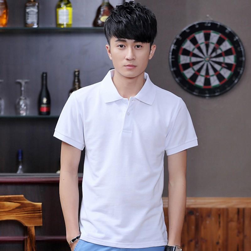 纯白带领t恤