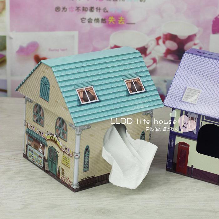 房子款纸巾盒