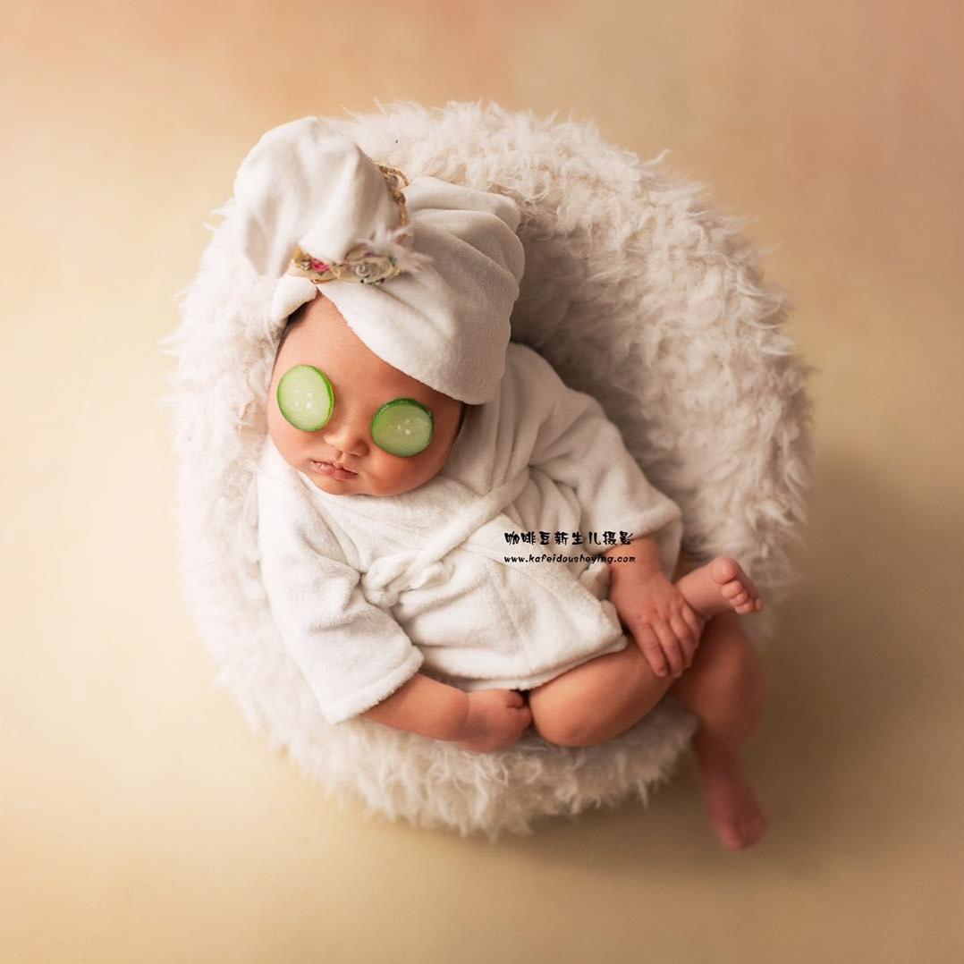 儿童摄影服装浴袍