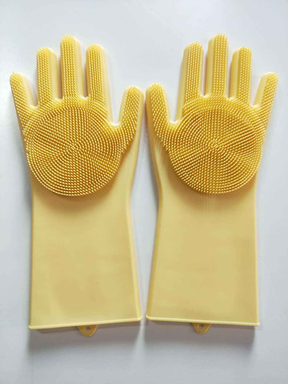 防滑洗碗手套洗碗袖套加厚款学生美观防烫放油加长款冬洗衣耐用型