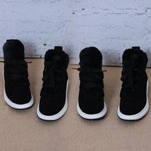2017新款冬季运动鞋跑步鞋 欧洲站平底厚底 加绒休闲系带加棉女鞋
