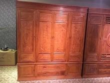 红木家具衣柜刺猬紫檀花梨木顶箱柜实木家用四门衣柜工厂直销包邮