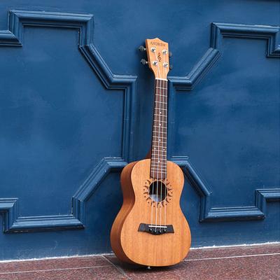 安德鲁旗舰店桃花心木尤克里里21 23 26寸ukulele小吉他暑假入门销量排行