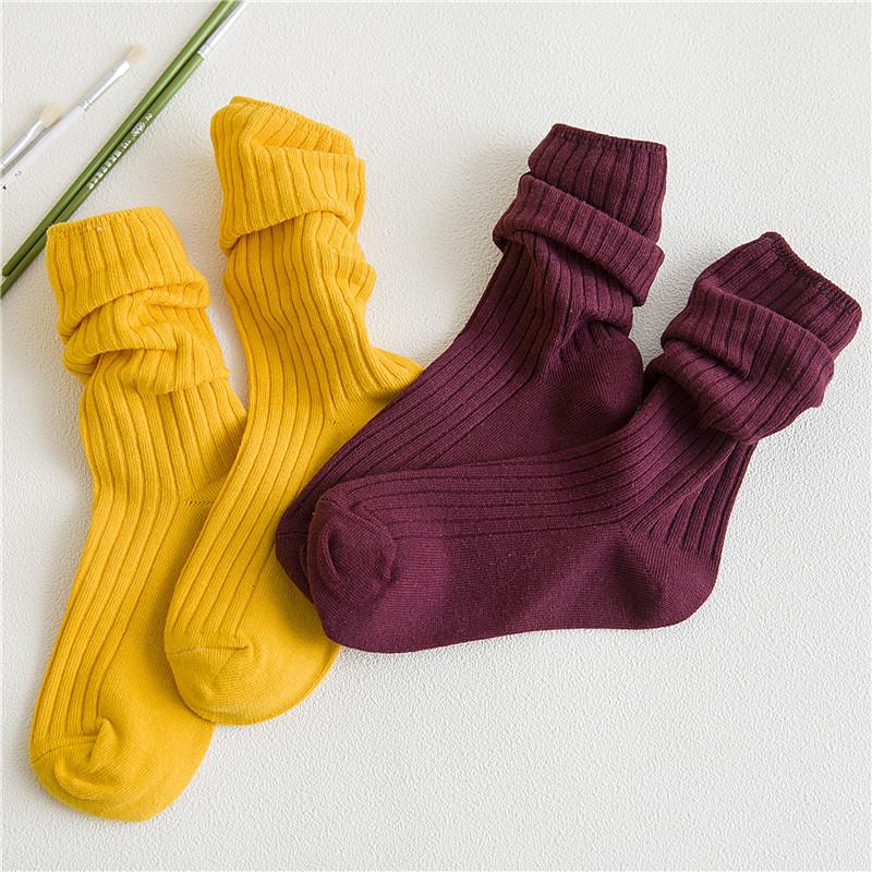 袜子女堆堆袜韩国学院风长袜纯棉秋冬韩版长筒袜日系宽条纹中筒袜
