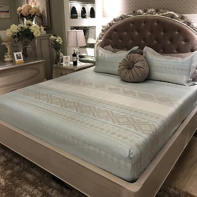 欧式冰丝席三件套床笠款凉席1.8m床罩式可折叠水洗夏季席子1.5米