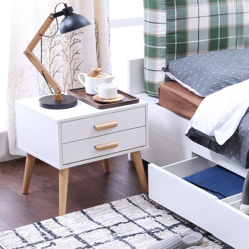 床頭柜白色單抽