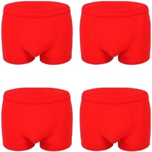 Four Gift Box Men's Underwear Men's Flat Pants with Loose Mid-waist and Large Size Youth Quartet Pants