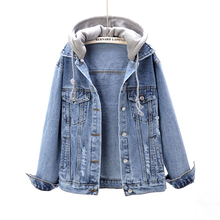 Spring 2019 New Korean Version Long Sleeve Loose Hat Jeans Jacket
