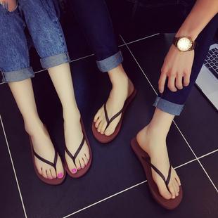 包邮防滑情侣人字拖细带夏季欧美男女鞋夹拖凉拖鞋平底厚底沙滩鞋