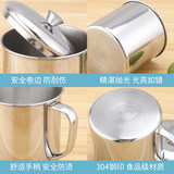 Thick kindergarten mouth cup children's 304 stainless steel cup with lid tea cylinder with handle vintage iron cup engraved