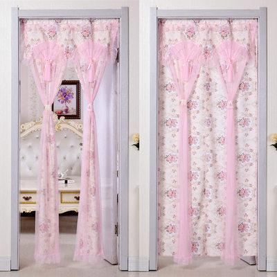 门帘隔断帘布艺客厅卧室卫生间现代简约田园家用蕾丝厨房遮光成品有实体店吗