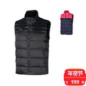 李宁羽绒马甲男冬季运动羽绒服马夹立领背心坎肩AMRM013 专柜正品