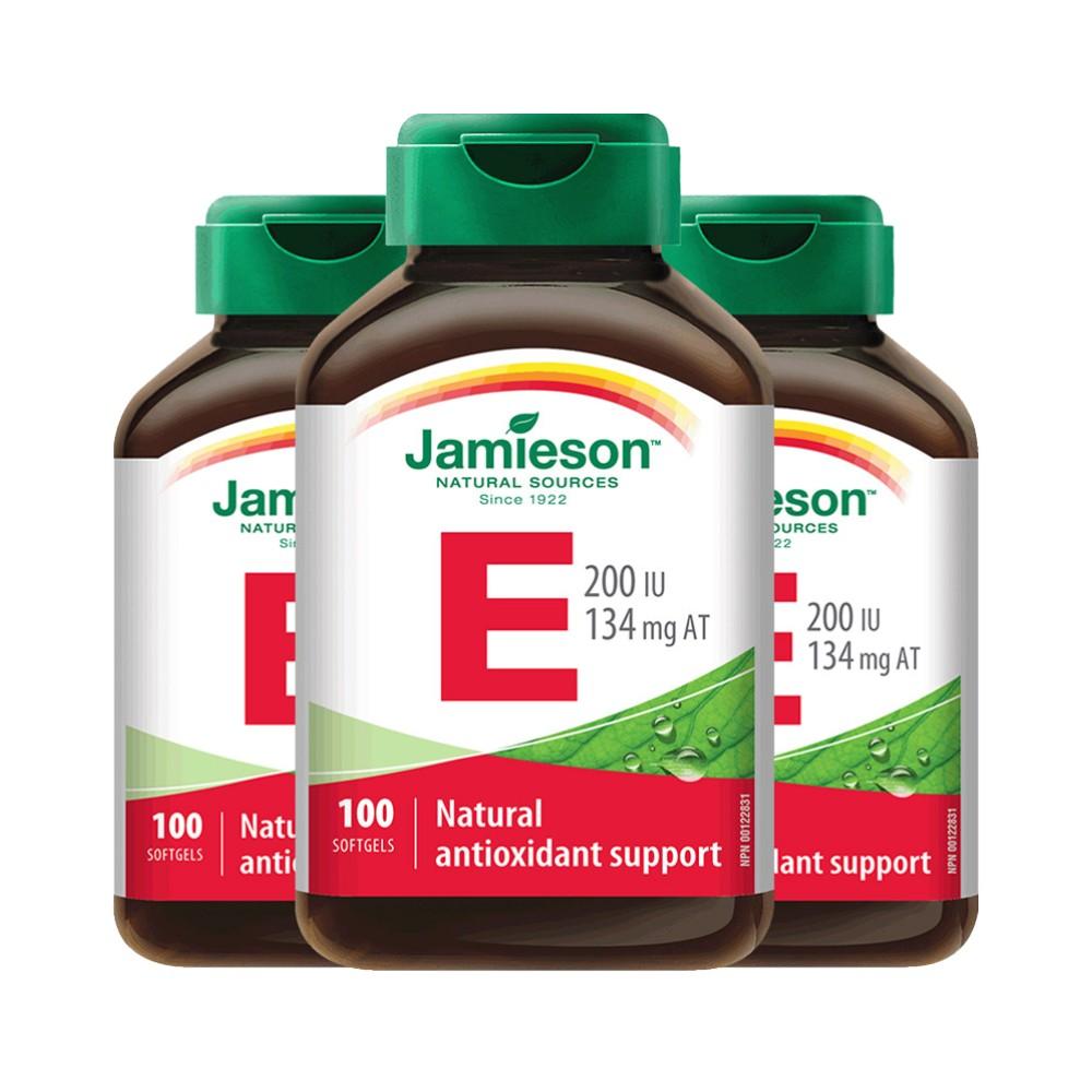 【直营】3瓶*Jamieson健美生 维生素E软胶囊 100粒 200IU