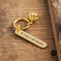 Handmade pure copper mobile phone number anti-lost brass lettering car key ring simple pendant pendant custom