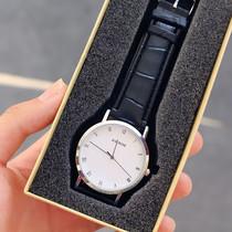 学生时装表皮带复古表男女士情侣表女韩版潮流简约手表