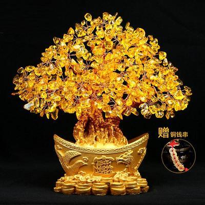 客厅摆件发财树摇钱树是什么档次