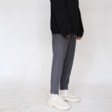 AaNn normcore casual nine-point cuffed blended trousers