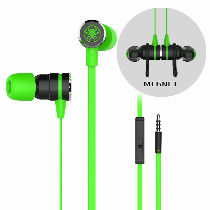 Pu Kee G20 computer headset in-ear chicken game mobile phone headset noise-reduction line