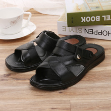 Return authentic men's beach sandals Summer new style father, young and middle-aged anti-slippery sandals with soft sole