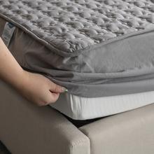 全棉床笠单件纯棉夹棉席梦思保护套加厚防滑床垫套全包可拆卸床罩图片