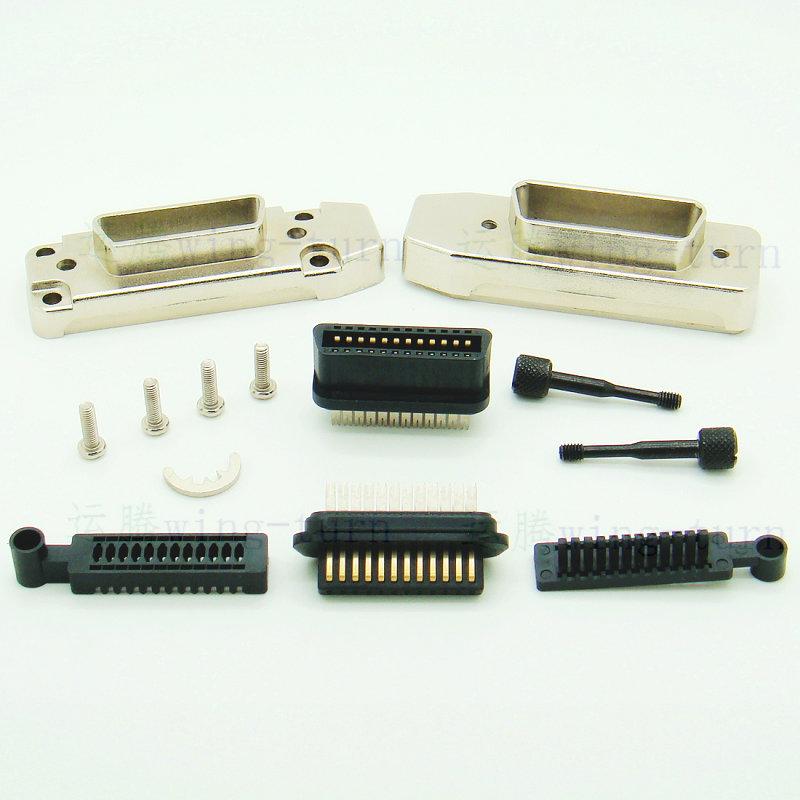 运腾 IEEE488 配件 工控连接器 GPIB 线缆插头 GPIB 公母接插件