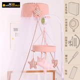 Baby bed bell Korean brand Nordic style full fabric bed bell intelligent rotating music hanging bell rattle downloadable