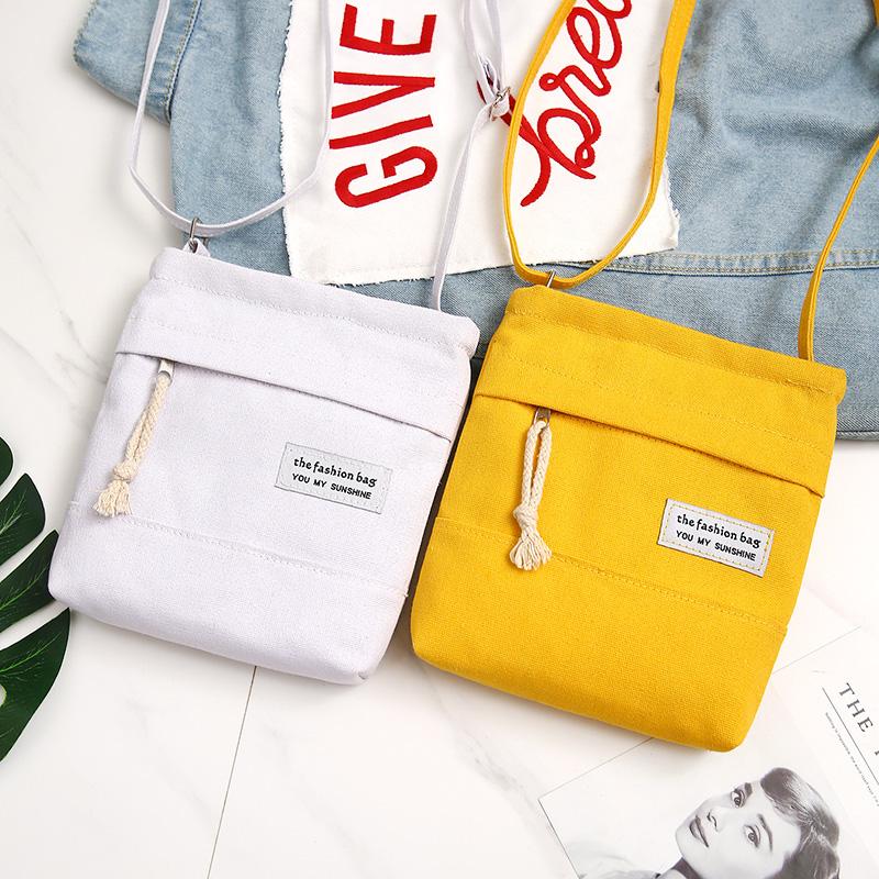 手机包女2019新款春夏韩版装手机的小包包帆布包单肩斜挎零钱包袋