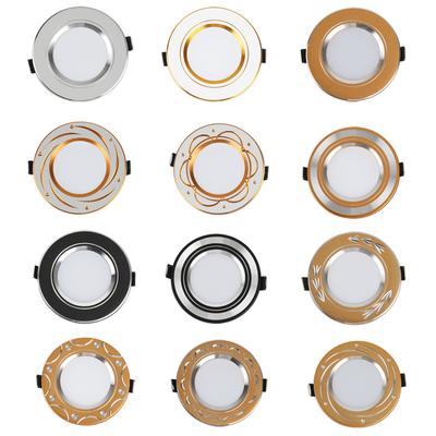 三色变光筒灯led开孔6 6.5 7 7.5 8公分3w天花桶灯洞灯嵌入式客厅