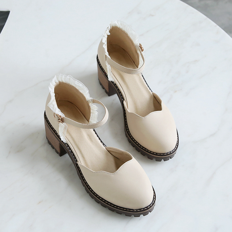 甜美学生包头凉鞋