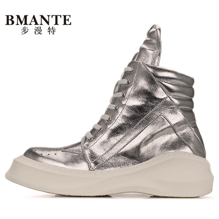 潮牌男鞋高帮靴