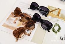 DFDP254出口夏新款潮牌墨镜茶色眼镜椭圆框圆脸防晒太阳镜防UV