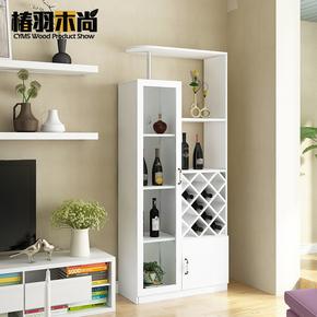欧式酒柜客厅白色奢华餐边柜现代简约家用多功能进门玄关柜隔断柜