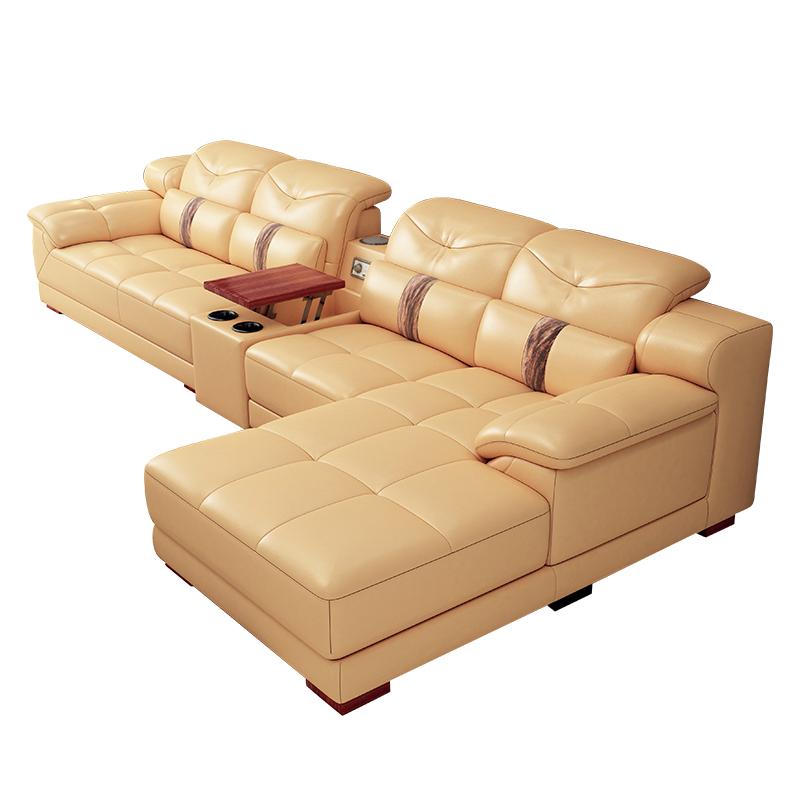 真皮沙发头层牛皮大小户型客厅组合整装现代家具皮质转角皮艺沙发