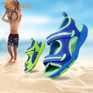 安踏儿童凉鞋男女童鞋子夏季2018新款中大童小学生防滑软底沙滩鞋