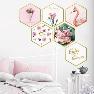 ins网红墙贴纸贴画少女心房间卧室装饰品出租房改造创意墙纸自粘