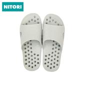 洗澡漏水软底拖鞋 浴室防滑洞洞鞋 日本NITORI尼达利 家居懒人凉拖
