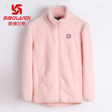 Sperandi children's coral velvet clothing girl shake grain velvet jacket boy plus velvet plus thick warm coat autumn