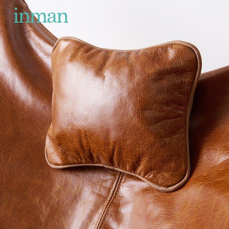 茵曼棉麻躺椅客厅真皮蝴蝶椅北欧设计款单人休闲午睡布椅靠背座椅