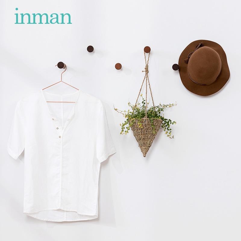 茵曼home实木小衣帽架衣架挂衣架简易帽子支架创意挂钩壁挂衣架子