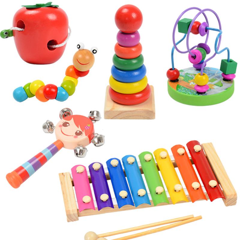 宝宝手敲琴益智玩具婴儿童木制音乐玩具1-2-3-4岁八音小木琴乐器